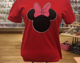 Minnie bow tshirt you choose color and size