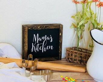 Mama's Kitchen   Mama's Kitchen Sign   Rustic Sign   Farmhouse Sign   Kitchen Decor