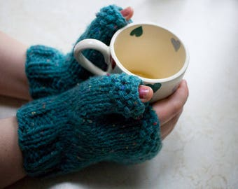 Under The Sea Fingerless Mittens
