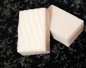 4 oz Evening Primrose Goat's Milk Soap, Dye Free Soap, Square Bar of Soap, Single Bar of Soap, Goat Milk Soap
