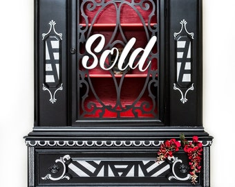 SOLD! Antique China Cabinet