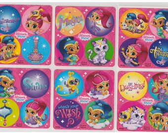 "80 Shimmer and Shine Mini Stickers, 1.2"" Round Each"