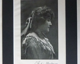 1920s Vintage Native American Indian Print of Poet Pauline Johnson or Tekahionwake Black and white poetry portrait Canadian historical decor
