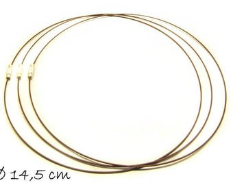 Chokers Brown, Collier steel 44.5 cm stainless steel necklace