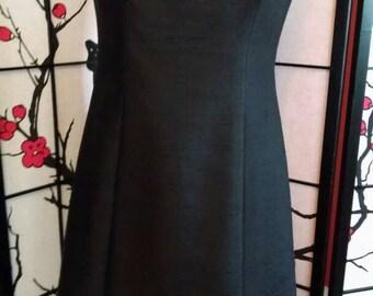 Elegant c.1960 Black Party Dress with Beading