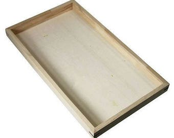 """Stackable wooden display tray 1"""" deep (DTR2000)"""