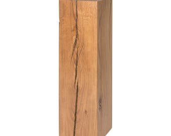 Dekosäule Oak Solid wood pedestal oak tree trunk