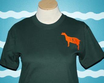 Dairy Goat t-Shirt - Monogram Dairy Goat - Personalized Dairy Goat T-Shirt - Livestock Dairy Goat - Show Goat Award Shirt - Show Barn Award