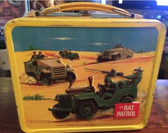 Vintage Lunchbox & Thermos Set: 1967 The Rat Patrol