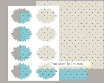 Label Four - Small - Digital Transparent Overlay Template