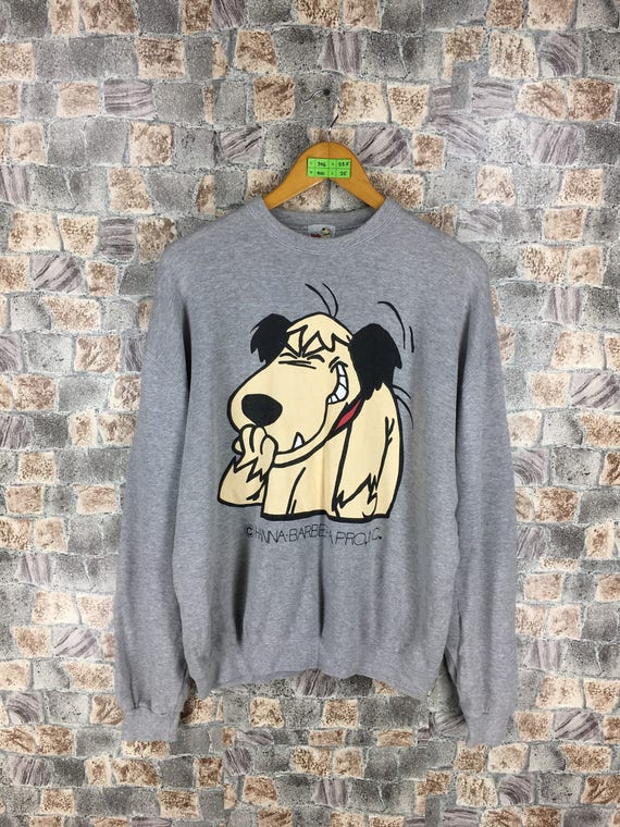 Vintage 90s 1996 Wacky Races Muttley Hanna-Barbera Bomber Snap Button Jacket Medium Large Funny Video Game Dastardly and Muttley Hip Hop 8WUWkbk