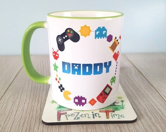 Retro gaming mug fathers day gift gamer mug video game mug coffee mug gamer gift gaming mug geek mug gamer gifts nerd mug personalized mug