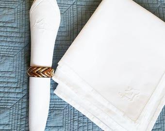 Linen napkins, Linen napkin, Linen, Napkins, cloth napkins , dinner napkins  , vintage napkins, Mother day gift, white color