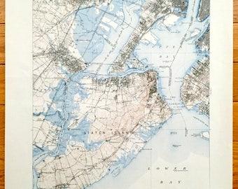 Bayonne map Etsy