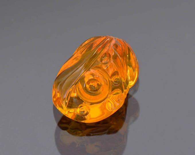 Stunning Bright Orange Fire Opal Carving from Mexico 6.41 cts.