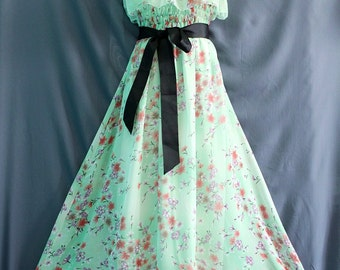 Dreamy Collection Green Maxi Dress Off Shoulder Bridesmaid Dress/ Sundress Soft Chiffon Summer Dress