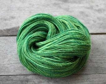 To the fresh, to the green - handspun merino corriedale yarn