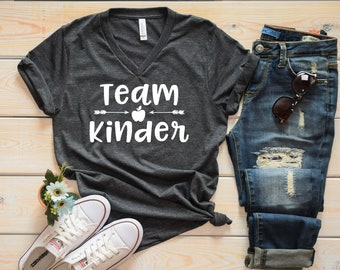Team Kinder Grade Level Teacher Shirt - Cute Teacher Shirts - Grade Level Shirts - Matching Teacher Shirts - Kindergarten Shirts