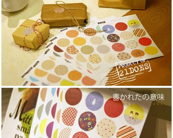 Set of 16 Sheets Gift Wrap Deco Stickers Seals Labels (P190)