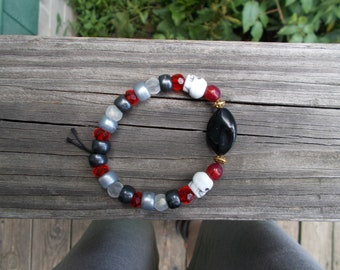 Blackstone Skull Bracelet (Stretch)