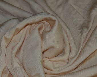 """Champagne Poly/Lycra Stretch Knit Fabric 62"""" Wide"""