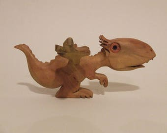 Wooden Toy Dragon figure