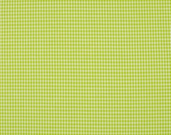 Lime green gingham (lime) 2mm 100% cotton fabric