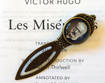 Victor Hugo Bookmark - Les Miserables Gift, The Hunchback of Notre-Dame Antique Style Bookmark, Les Miserables Bookmark, Victor Hugo Gift
