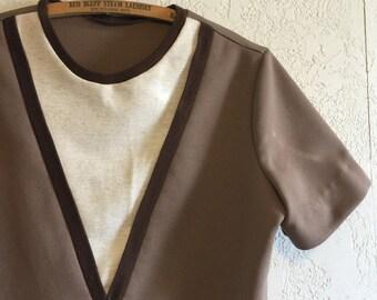 Vintage Polyester Pullover Top ~ M/L