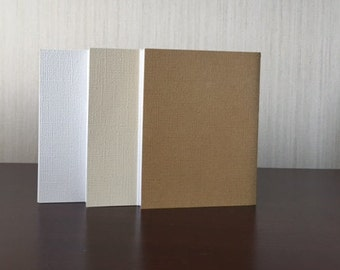 3x4 notebooks 20 pages Gold, Beige, and White