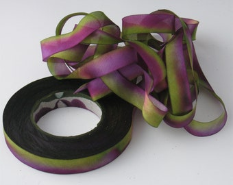 Silk Ribbon, Hand Dyed Silk Ribbon, Ribbon FG