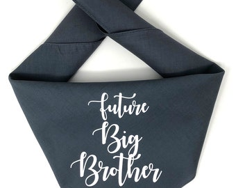 Dog Pregnancy Announcement Bandana, Big Brother Dog Bandana, Big Brother To Be Pregnancy Announcement, Big Sister in Training, Dog Pregnancy