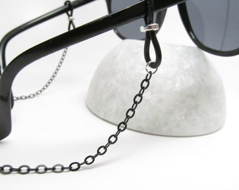 Black chain Glasses chain - for men or for women -  Eyeglasses Chain - Reading Glasses Holder - Eye Glass Chain