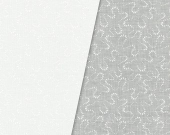 White on White Squiggles Fabric, Maywood Studios Solitaire Whites V, MAS 206-SW Squiggles, Children's White Cotton Quilt Fabric Yardage