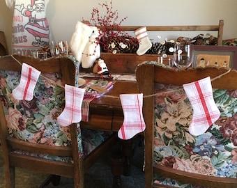 Mini Christmas Stocking Garland Bunting
