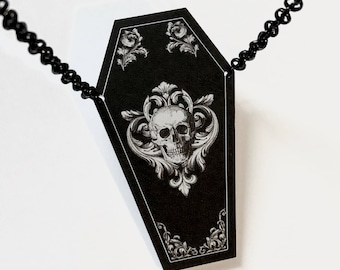 Ornate Coffin Necklace
