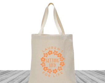 Welcome Bags, Tote Bags, Wedding Bags, Custom Totes, Bachelorette Tote Bags, Custom Canvas Bags, Hawaii Bachelorette, Lei'd For Life, 1485