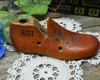 Antique Childs Wood Shoe Form