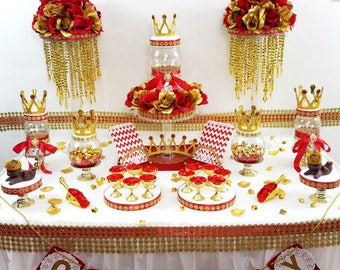 RED And GOLD Baby Shower ...