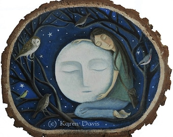 She loved The Moon so dearly. Archival Art Print.
