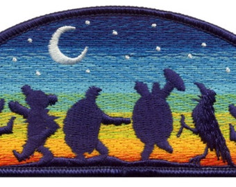 Grateful Dead Patch- Moondance 100% Embroidered Patch/ Terrapin Turtles/ Dancing Bears/ Dead and Company