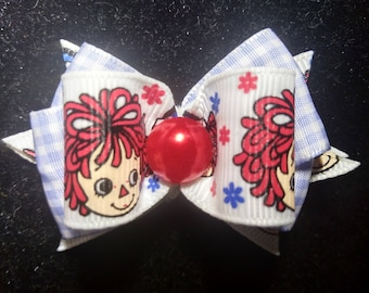 Raggedy Ann and Andy hairbow