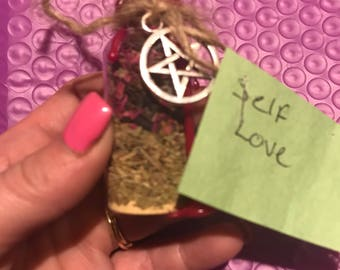 Self love witches bottle