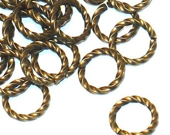 100 pcs of antiqued gold-plated brass fancy jumpring 9mm