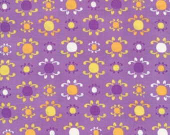 Free Spirit Fabric, Morning Tides by Mark Cesarik for Free Spirit Fabrics, MC15 Sunburst in Purple