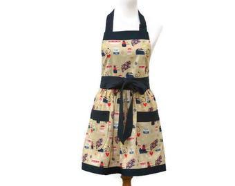 Plus Baking Themed Apron, Plus Full Apron for Baker, Plus Baking Apron, Plus Cute Personalized Kitchen Apron, Plus Gathered Waist Apron
