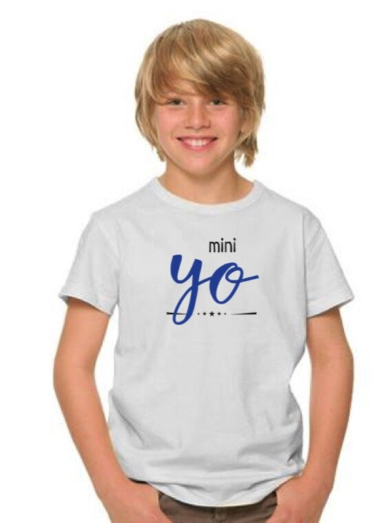 Boy t-shirt or body YO in royal blue and black