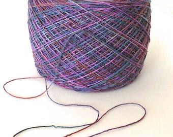 Hand Dyed Yarn Tencel Yarn Wool Tencel Lace Yarn Purple 800 yards - Plum Crazy