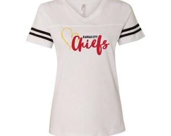 Women's Chiefs Gold Heart Tee