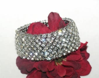 crystal wedding bracelet, bridal bracelet, crystal bracelet, wide wedding bracelet,